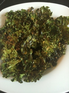 Chips de kale BBQ